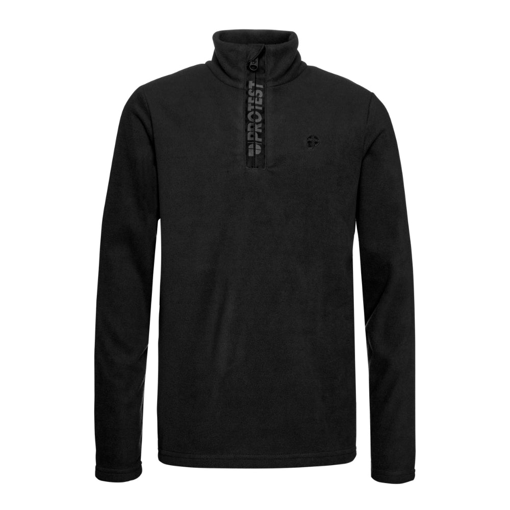 Protest Perfectly 1/4 Zip Top Mens - True Black