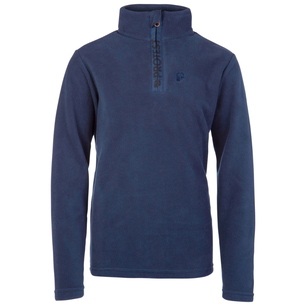 Protest Perfectly Junior 1/4 Zip Top Boys - Ground Blue
