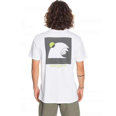 Quiksilver Swell Raisers T Shirt- Mens - White