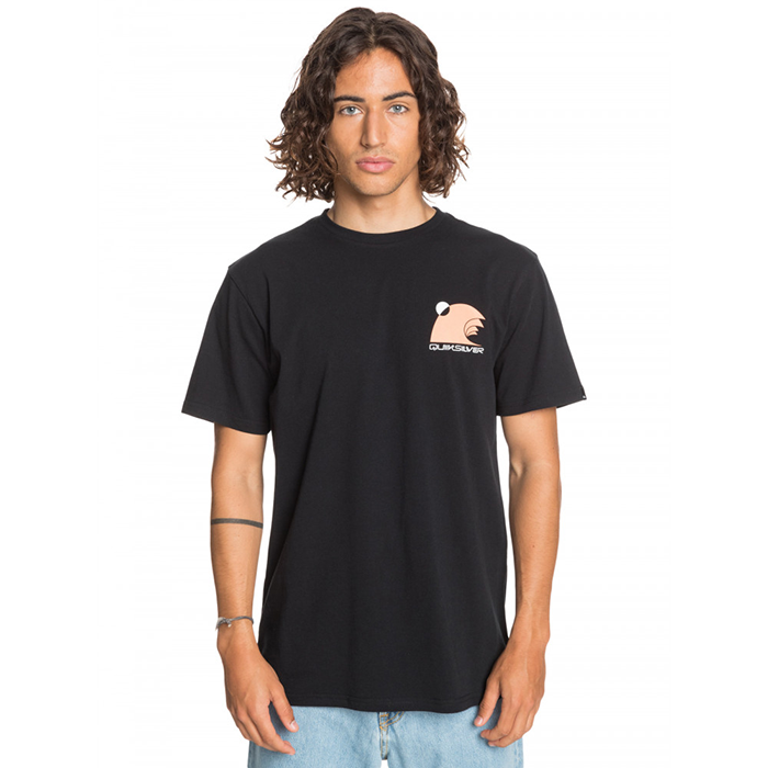 Quiksilver Swell Raisers T Shirt- Mens - Black
