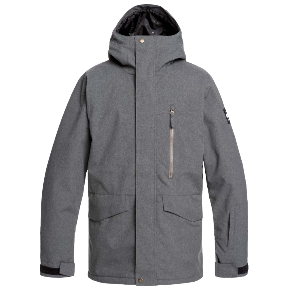 Quiksilver Mission Jacket Mens -Black Heather