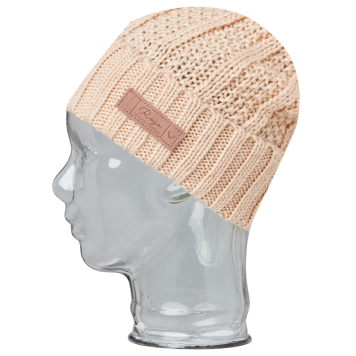 Rojo Textured Ribbed Beanie - Fawn