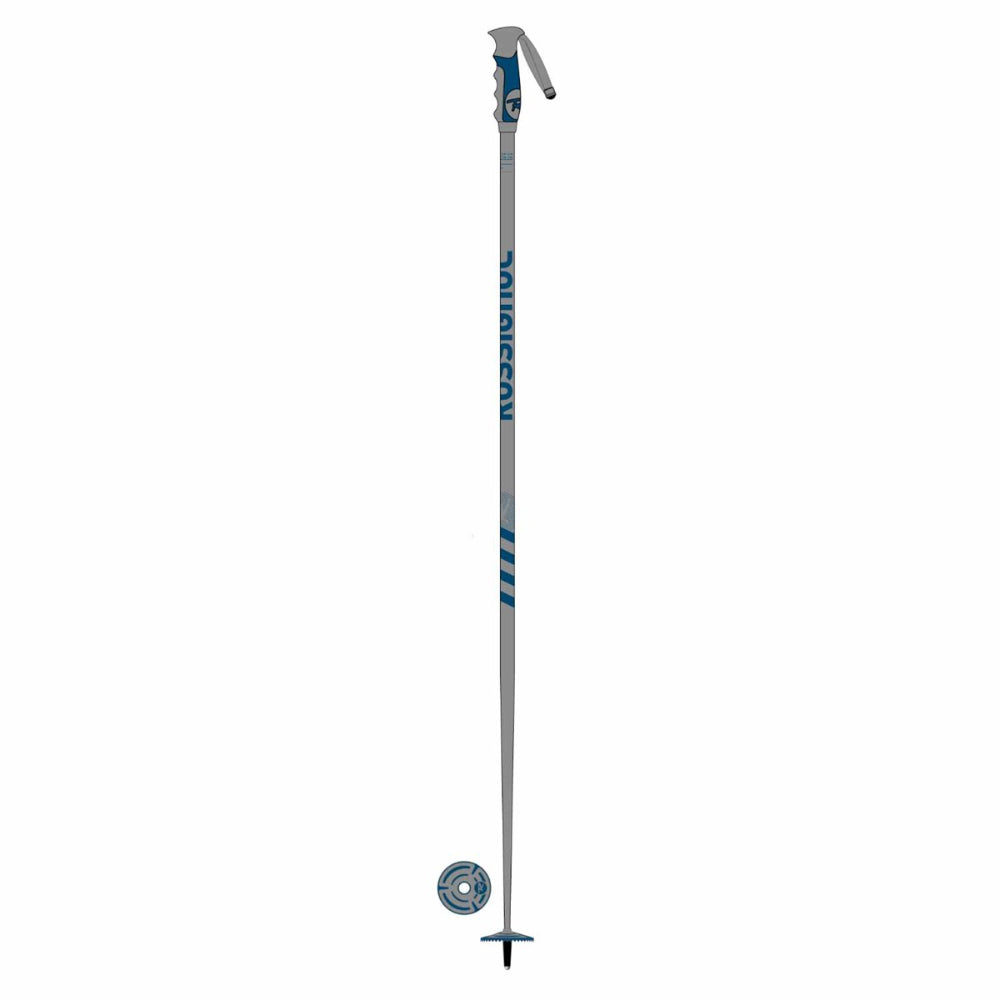 Rossignol Aluminium Ski Mens Pole - Grey/Blue
