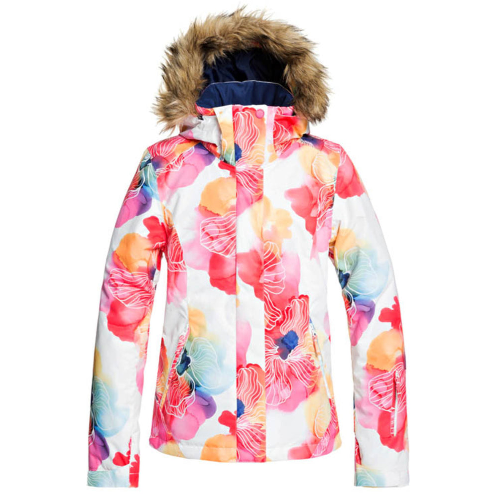 Roxy American Pie Girls Jacket - Bright White Sunshine Flowers