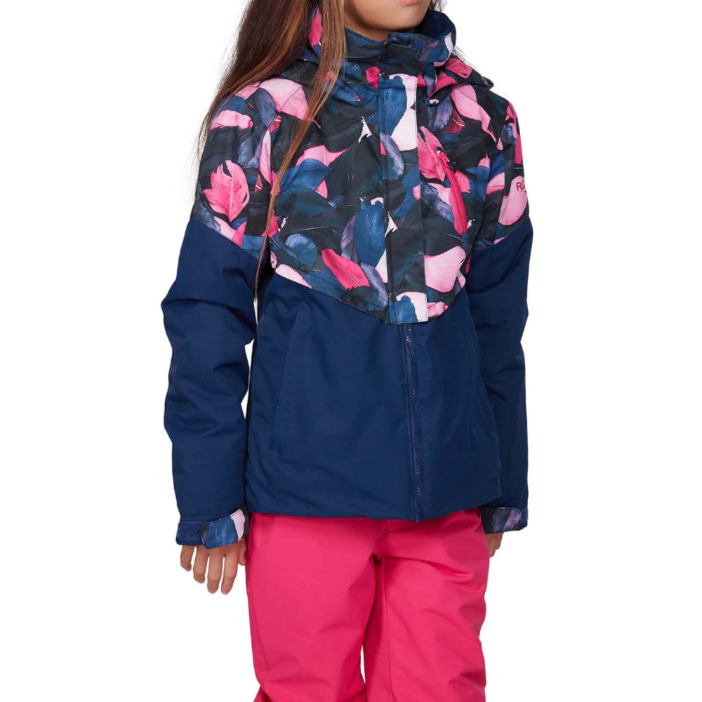 Roxy Frozen Flow Girls Jacket - Medievil Blue Plumes