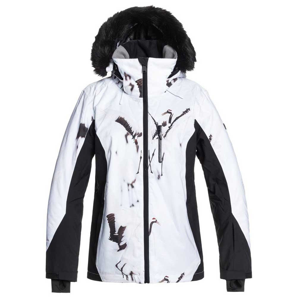 Roxy Jet Ski Premium Jacket Womens - True Black White Birds