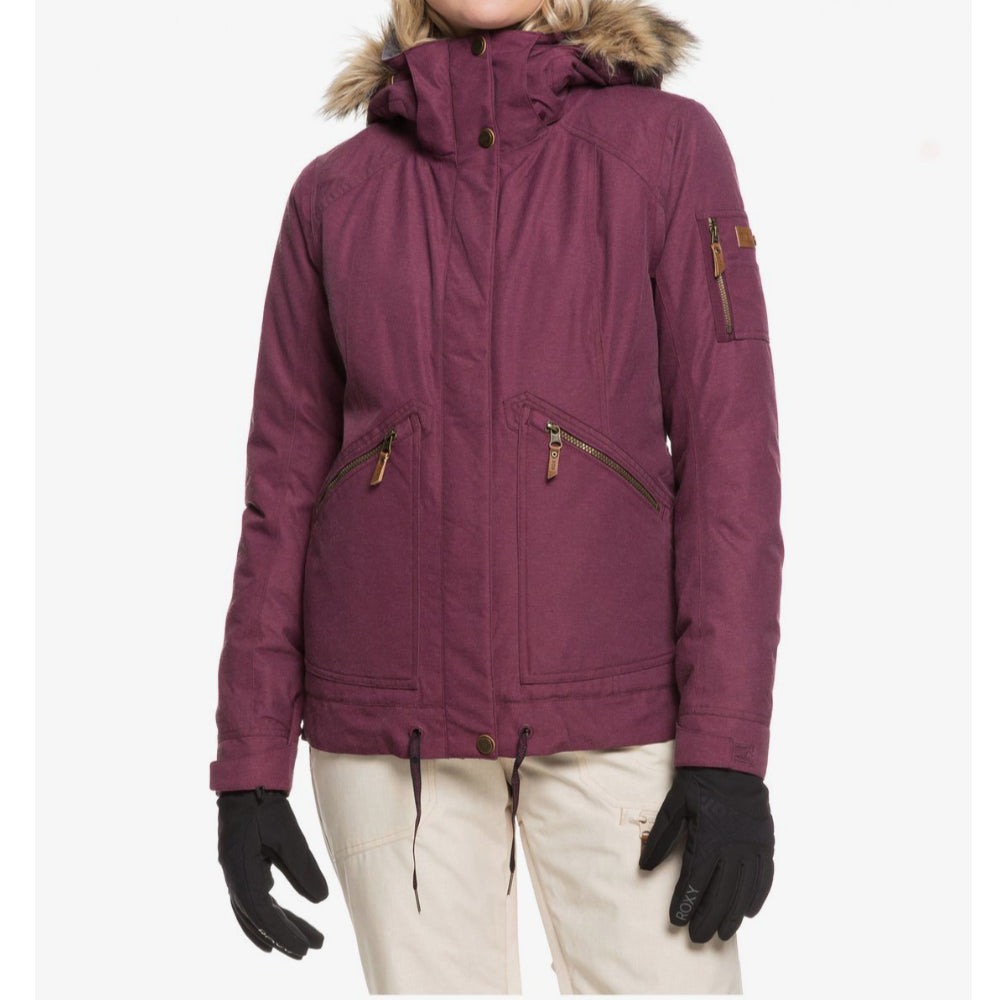 Roxy Meade Jacket Womens - Grape Wine
