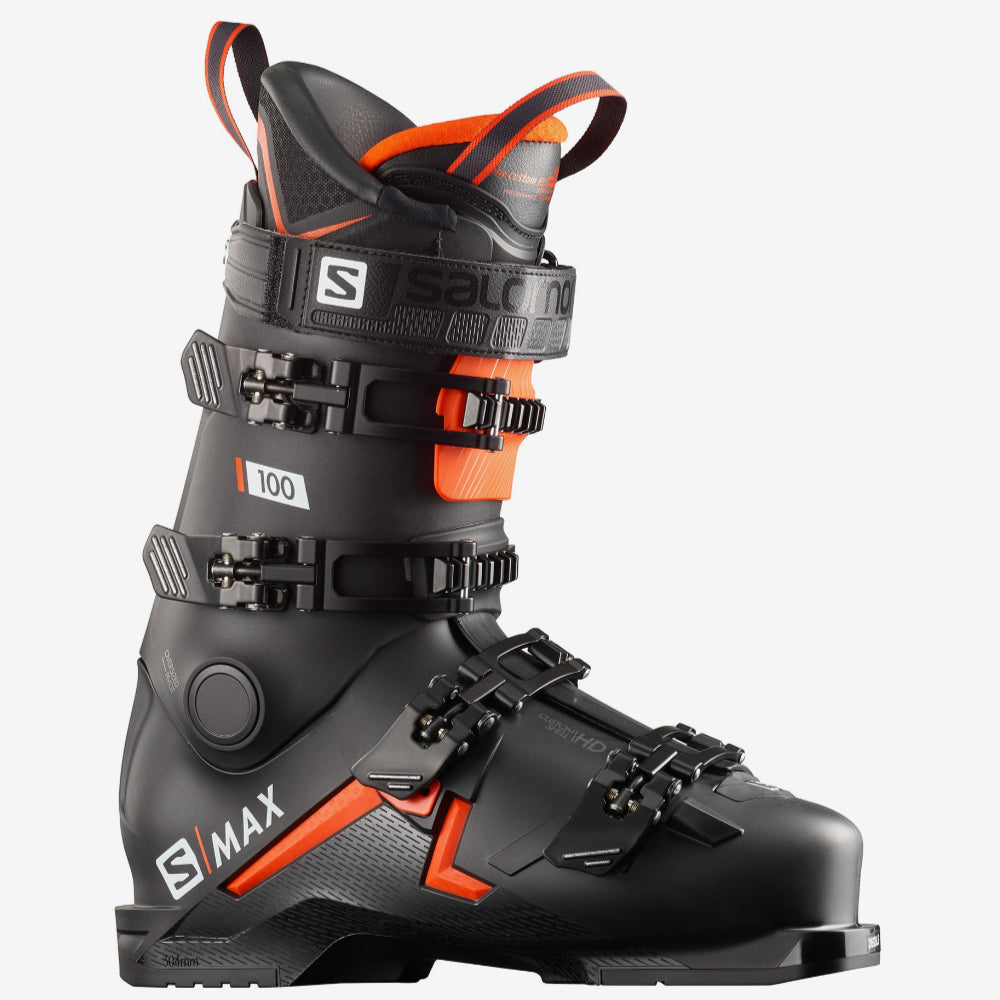 Salomon S/Max 100 Mens Ski Boots - Black/Orange/White