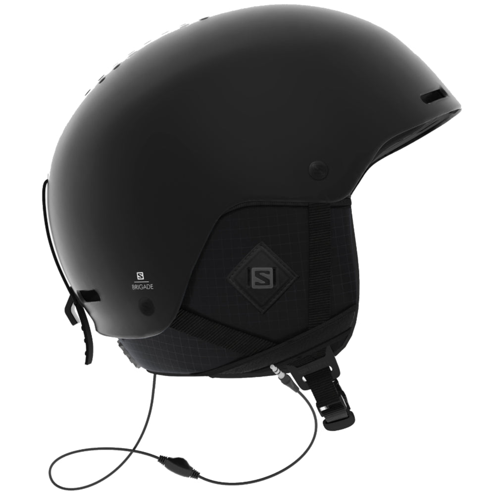 Salomon Brigade + Audio Helmet - Mens - All Black