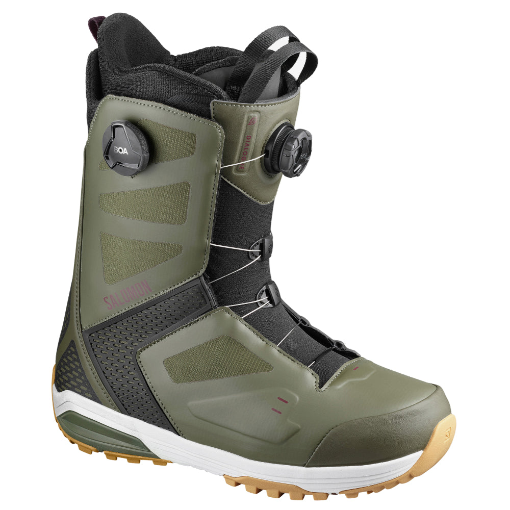 Salomon Dialogue Focus Boa Snowboard Boots Mens - Dark Olive/Fig/Black