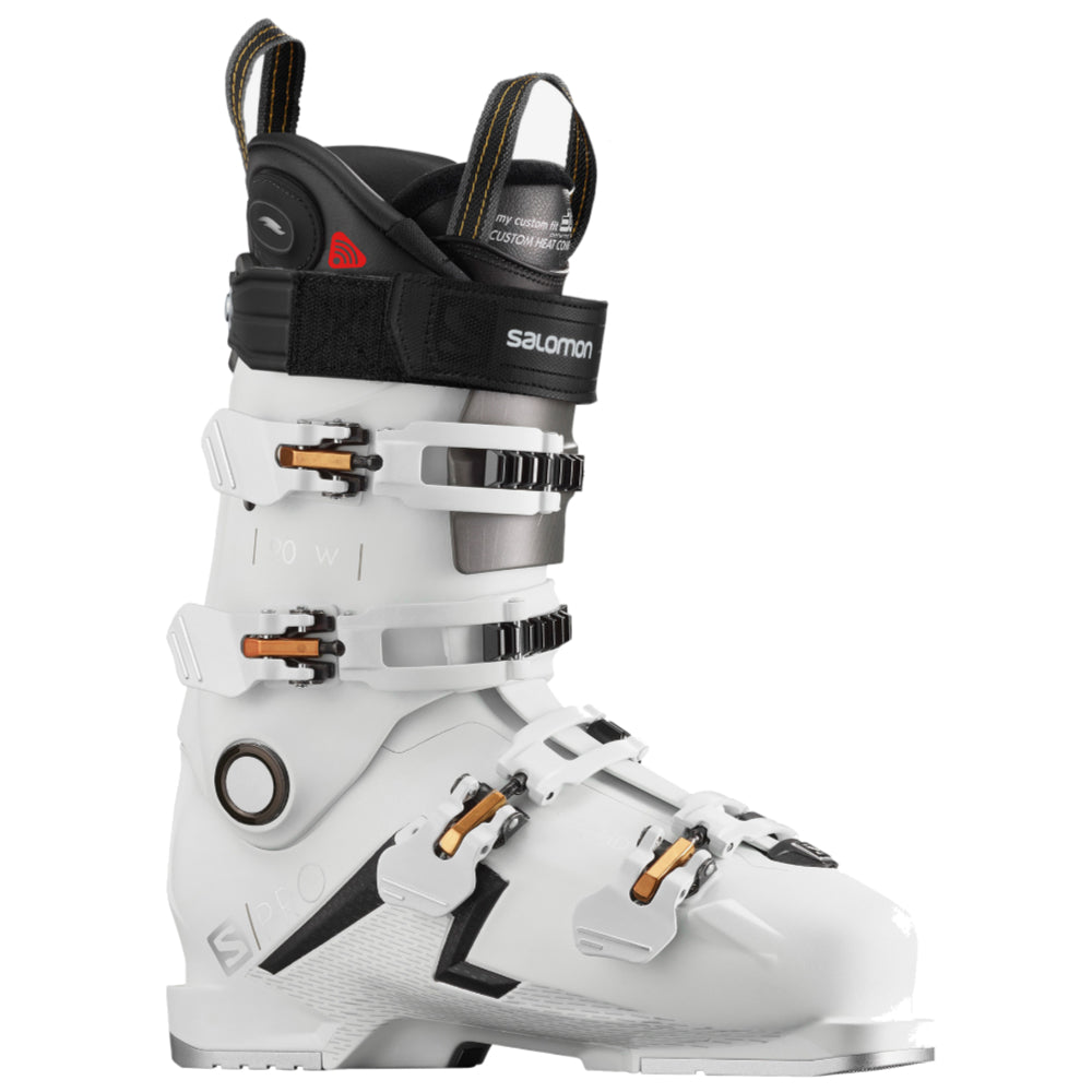 Salomon S/Pro 90 CHC Ski Boots Womens - White/Gold