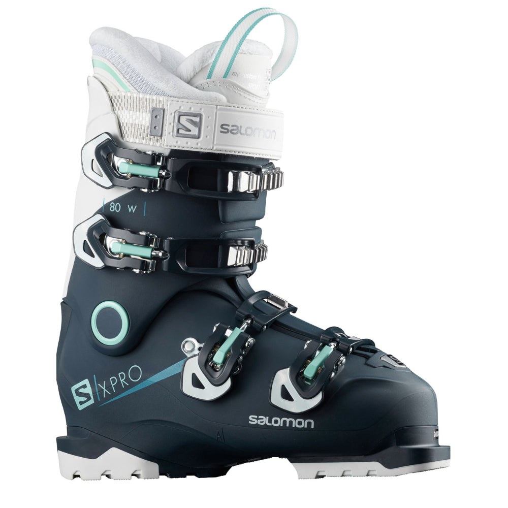 Salomon X Pro 80 Ski Boots Womens Petrol Blue/White