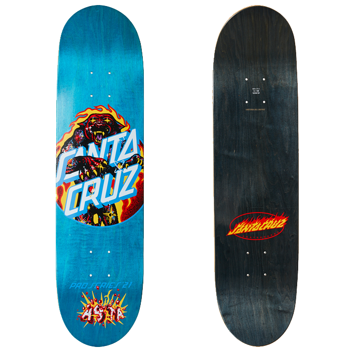 Santa Cruz Asta Cosmic Cat Dot Skateboard Deck - 8.0
