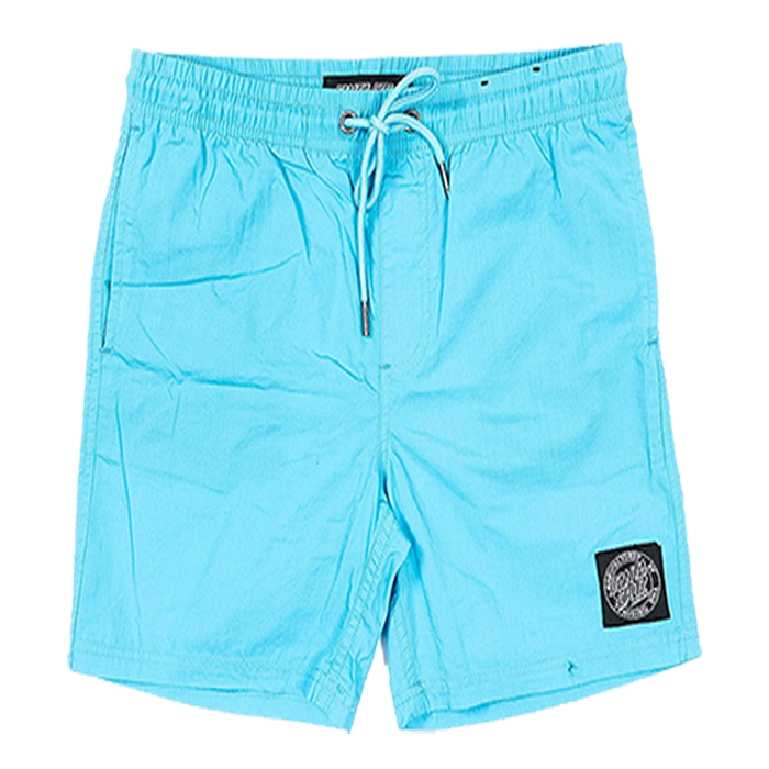 Santa Cruz Cruizer Solid Beach Short Youth - Cyan