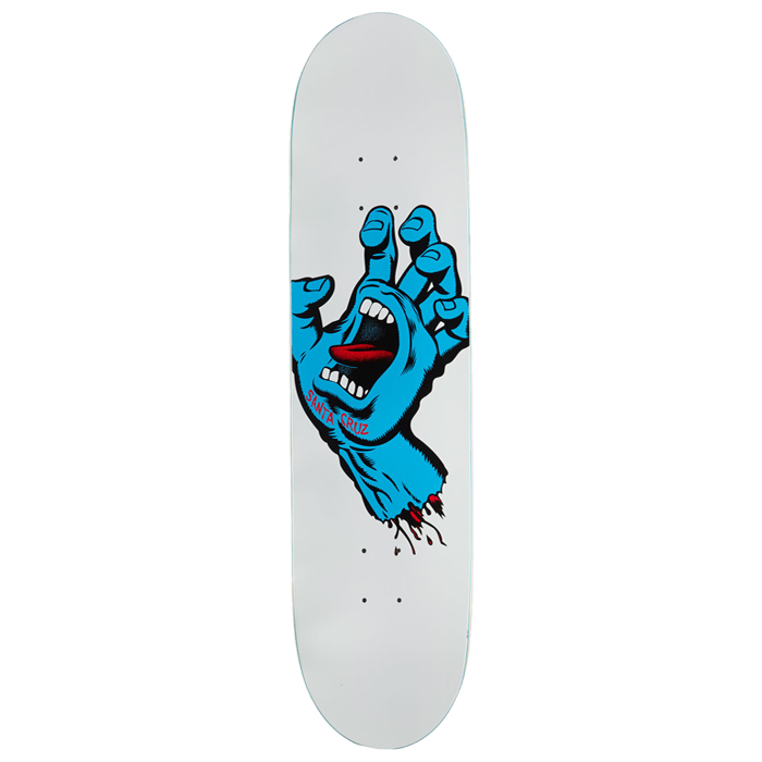 Santa Cruz Screaming Hand Skateboard - 8.25 x 31.8
