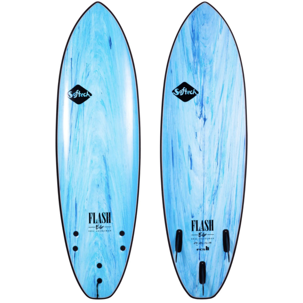 Softech Flash Eric Geiselman FCS 2 Model 6ft 6 Softboard - Aqua Marble