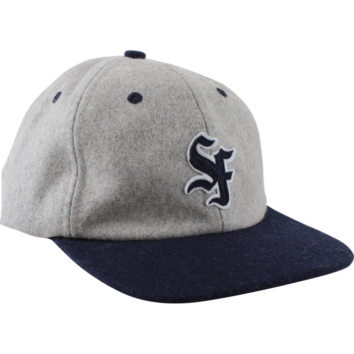 Spitfire Adj Big League Cap - Grey/Navy