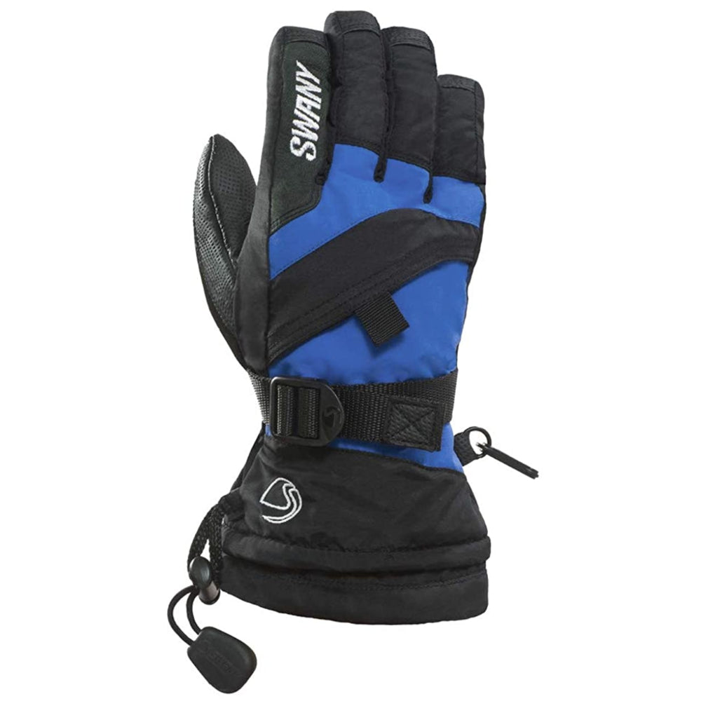 Swany X-Over Gloves Juniors - Black/Royal