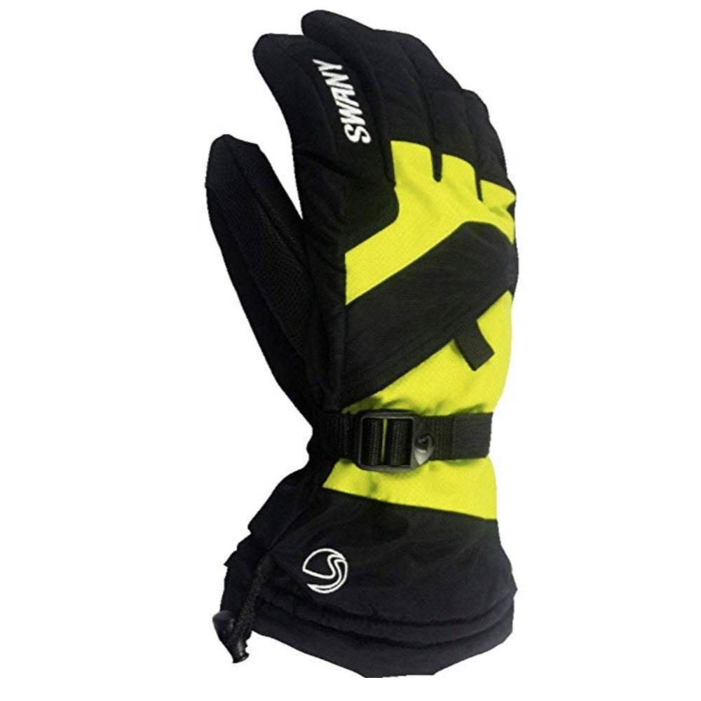 Swany X-Change Gloves Juniors - Black/Lime