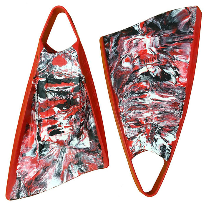 POD PF3 Fins - Red Black White