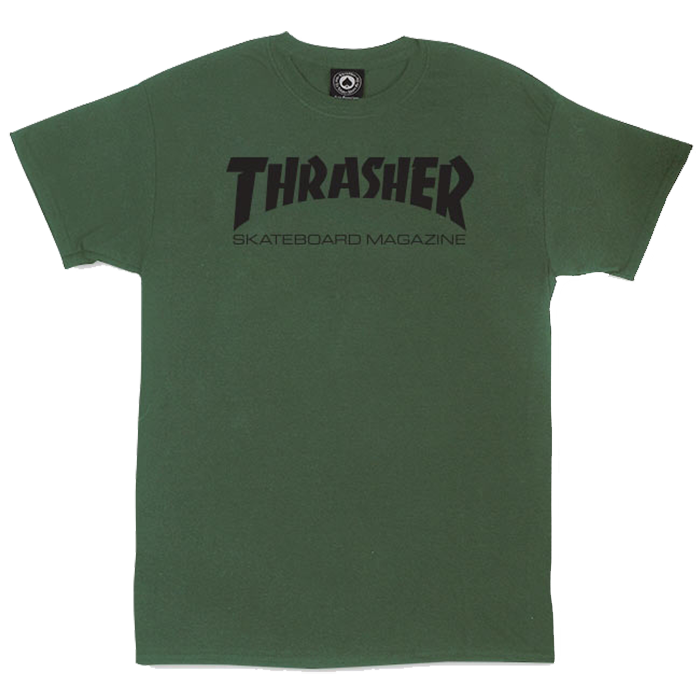 Thrasher Skate Mag Tee - Army Green