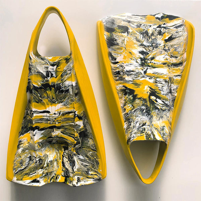 POD PF2 Fins - Yellow Black White