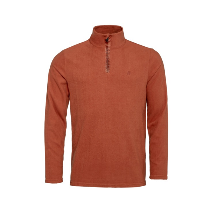 Protest Perfectly 1/4 Zip Top Mens - Cinnamon