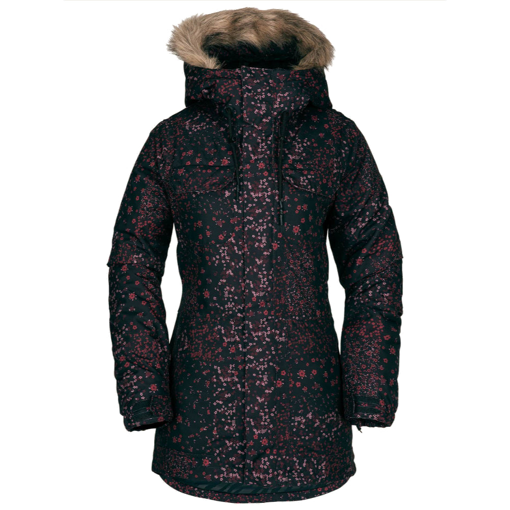 Volcom Shadow Insulated Snow Jacket Womens - Black Floral