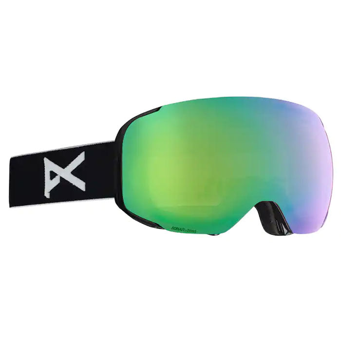 Anon Asian M2MFI W/Spare Goggles Mens - Black/Sonargreen