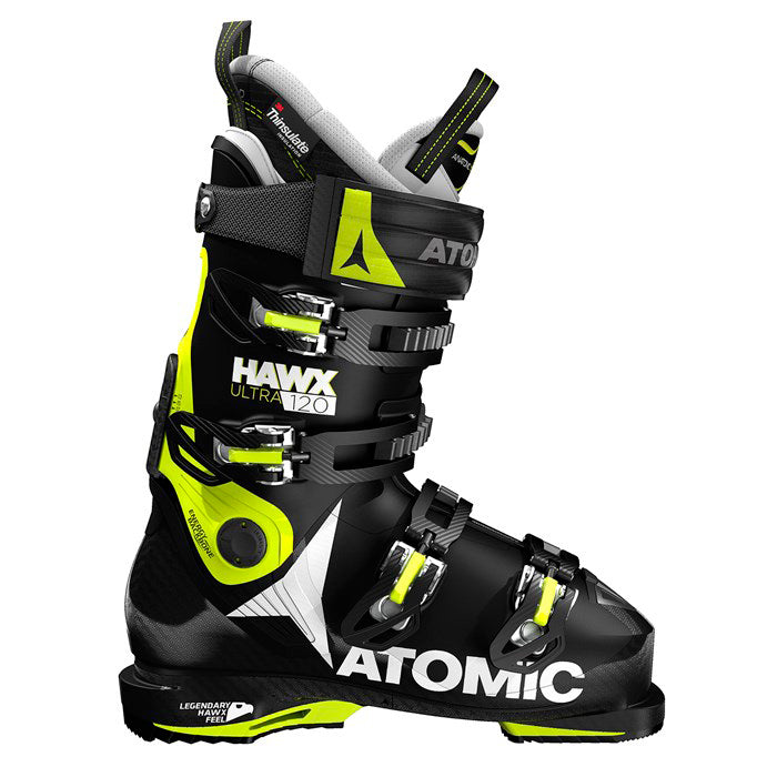 Atomic Hawx Ultra 120 Mens Ski Boot - Black/Lime