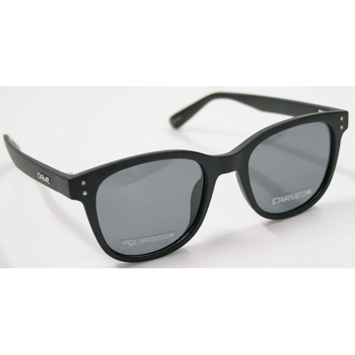 Carve Homeland Sunglass - Shiny Black Grey Polarized