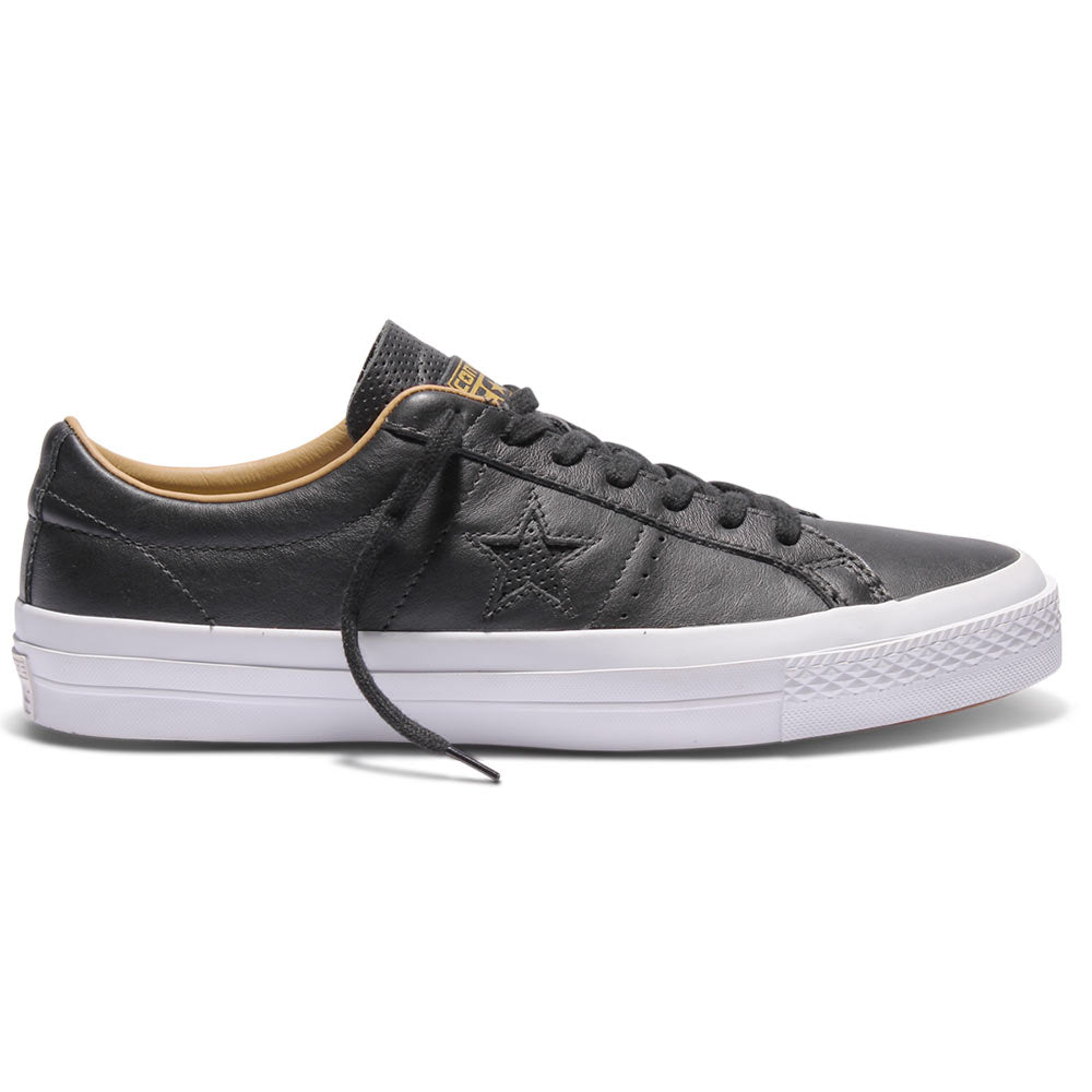 Converse Cons One Star Leather Low Shoes BlackSandDuneWhite
