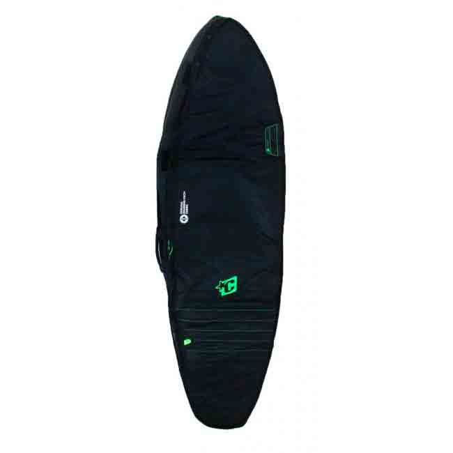 Creatures Shortboard Double Cover 6ft 7 - Black/Lime