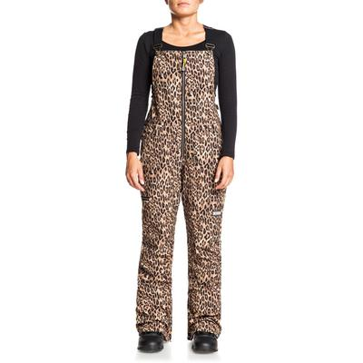 DC Collective Softshell Snow Bib Pants Womens - Leopard Fade