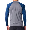 Rip Curl Shockwave Relaxed L/S Rashie - Grey/Blue