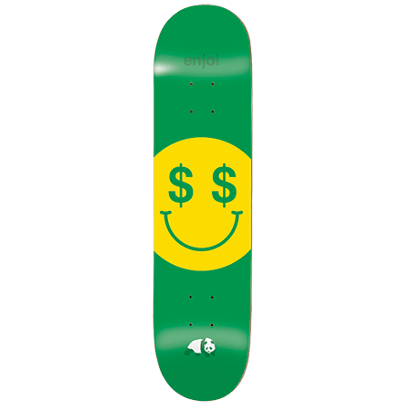 Enjoi Cash Money Deck R7 - Green - 8.25