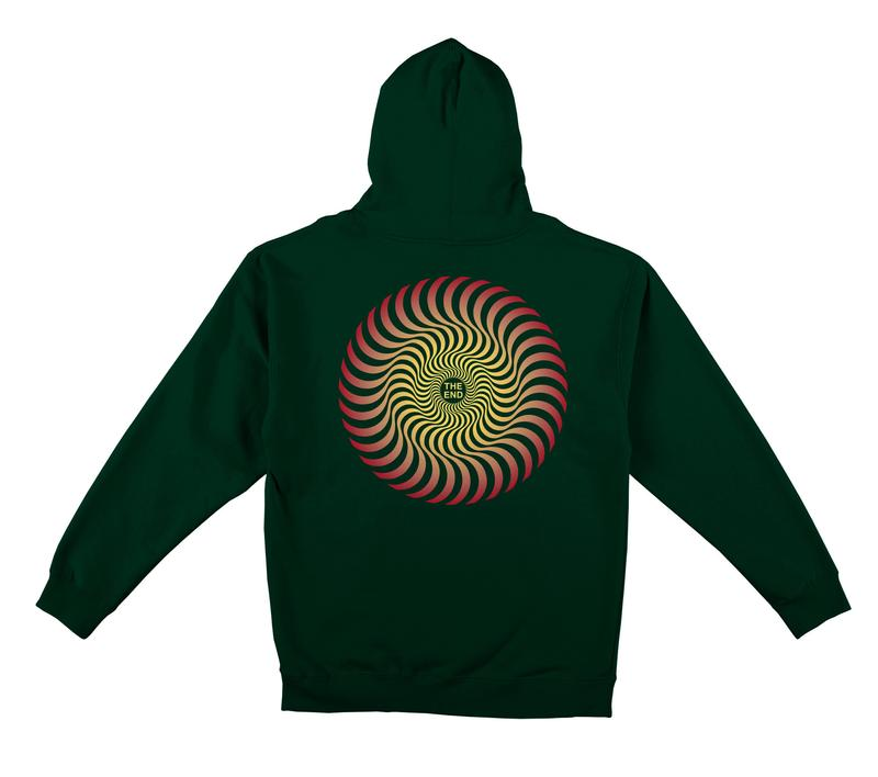 Spitfire Classic Swirl Hoodie - Mens - Faded Green