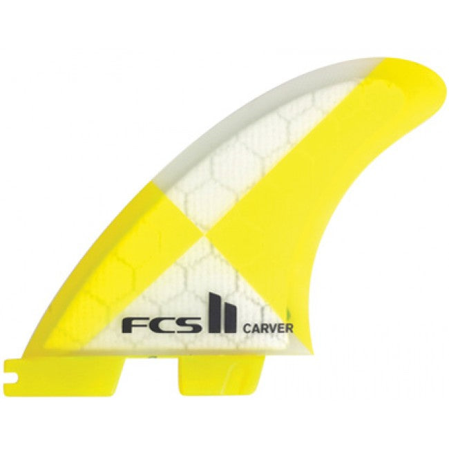 FCS II Carver PC Tri Yellow Fins - Medium