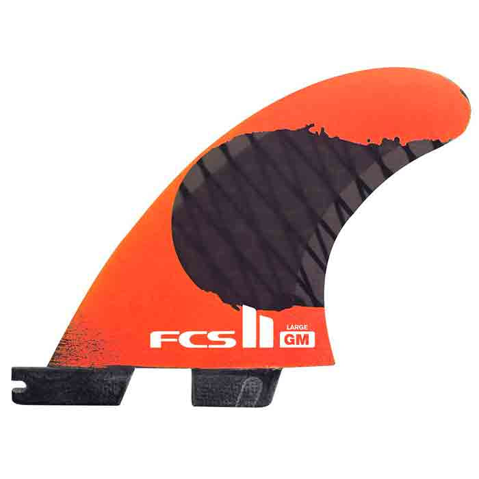 FCS II GM PC Carbon Fluro Orange Tri Fin - Large - MEMBERS PRICE