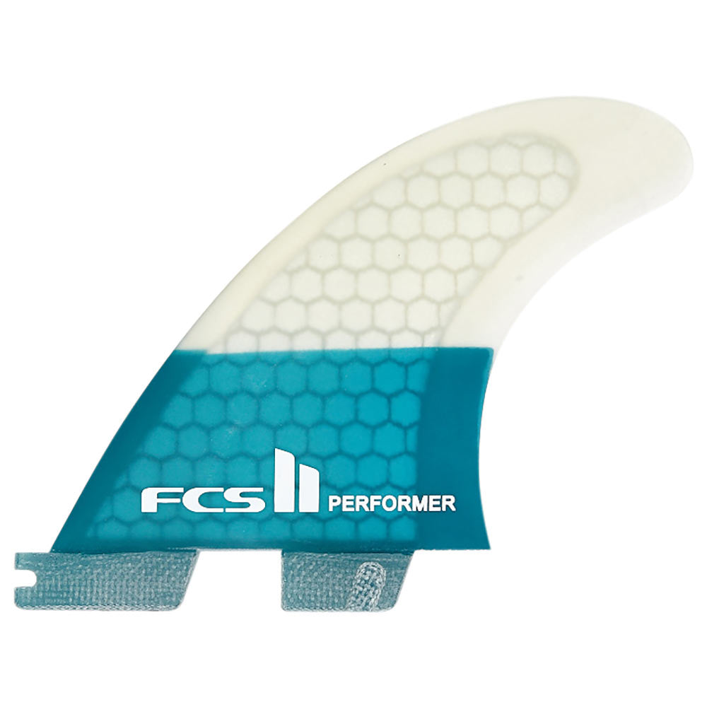FCS II Performer PC Teal Quad Fins - Medium