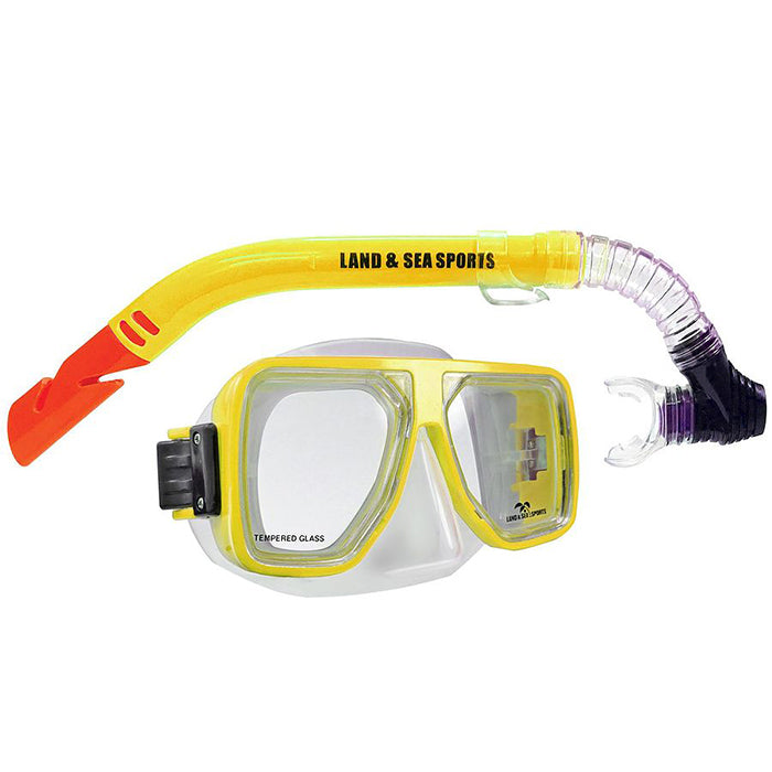 Land & Sea Bermuda Mask And Snorkel Set - Yellow