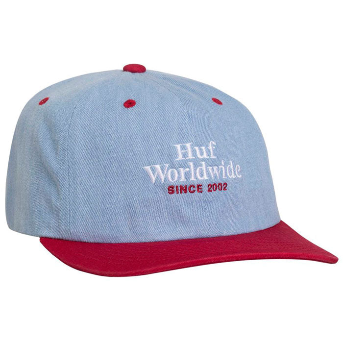 Huf Worldwide Denim 6 Panel Cap - Resort Red