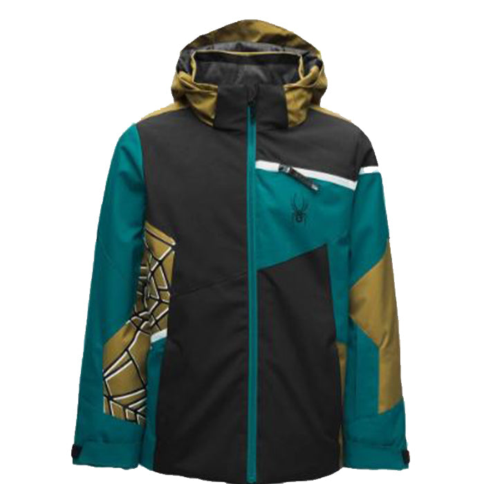 Spyder Challenger Jacket Boys - Black Swell