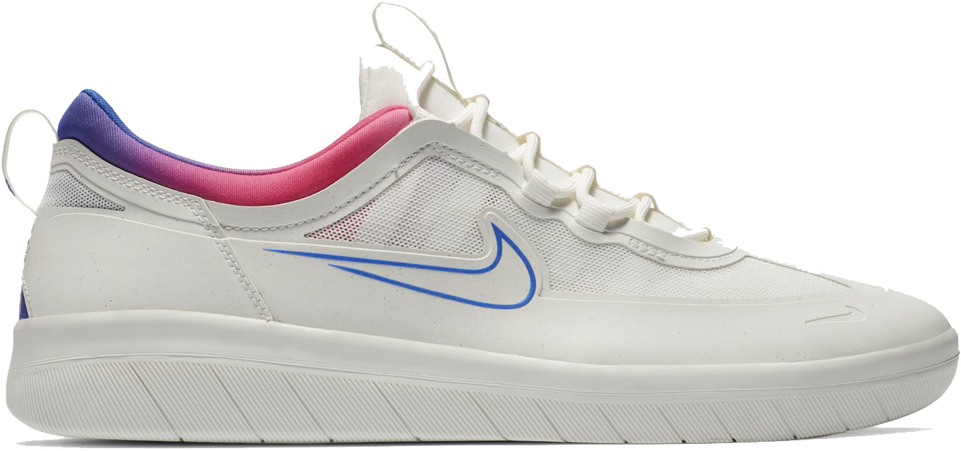 Nike SB Nyjah Free 2 Shoes - Summit White/Pink Blast-Pink Blast-Racer Blue