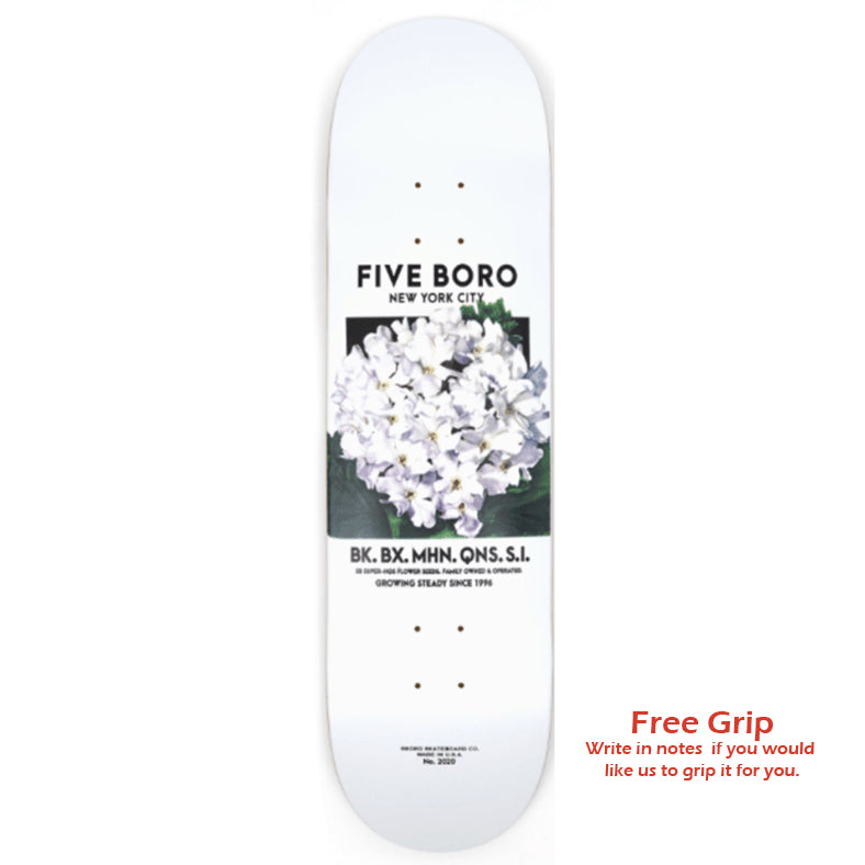 5Boro Flower Seed Deck - White - 8.5