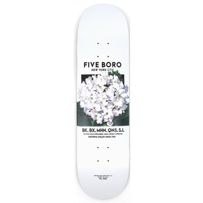 5Boro NYC Flower Seed White Deck 8.0