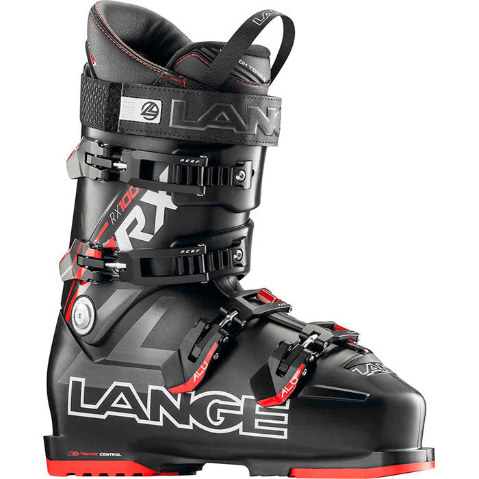 Lange RX 100 Ski Boots Mens - Black/Red