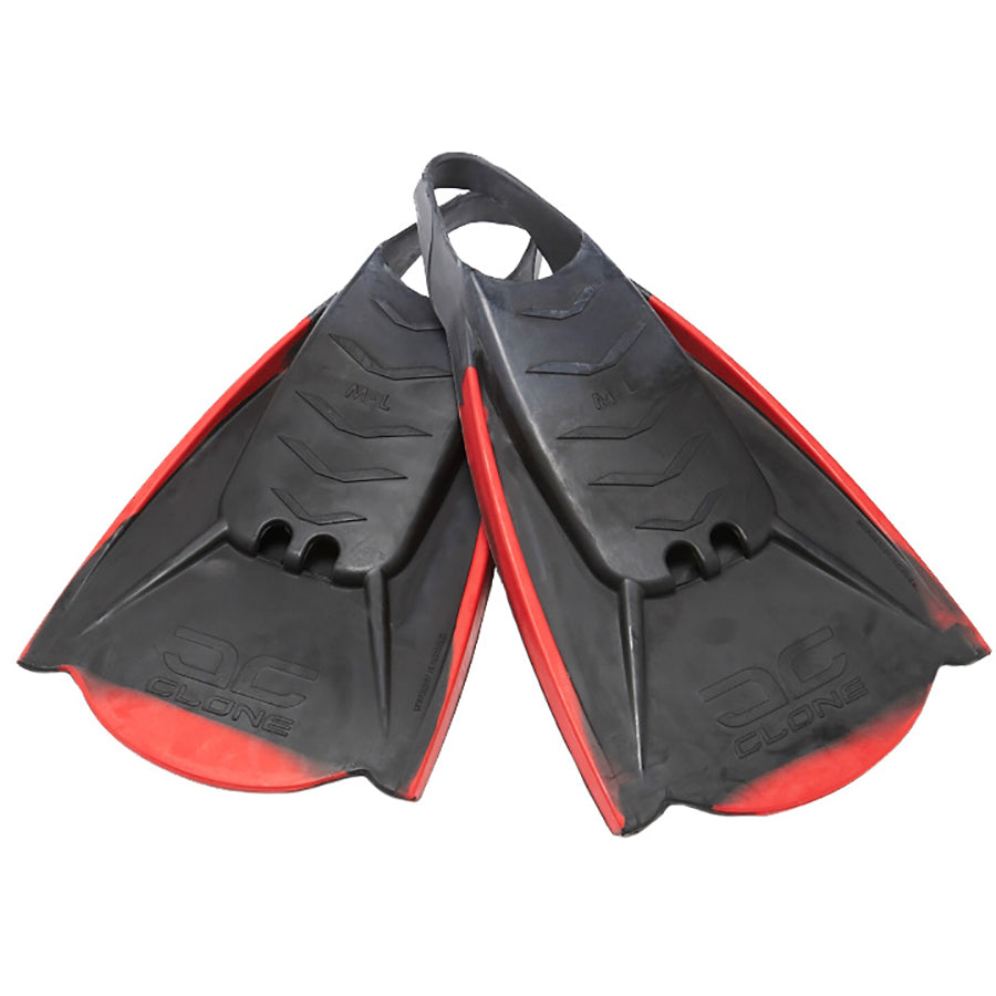 Manta Clone Fins - Black/Red