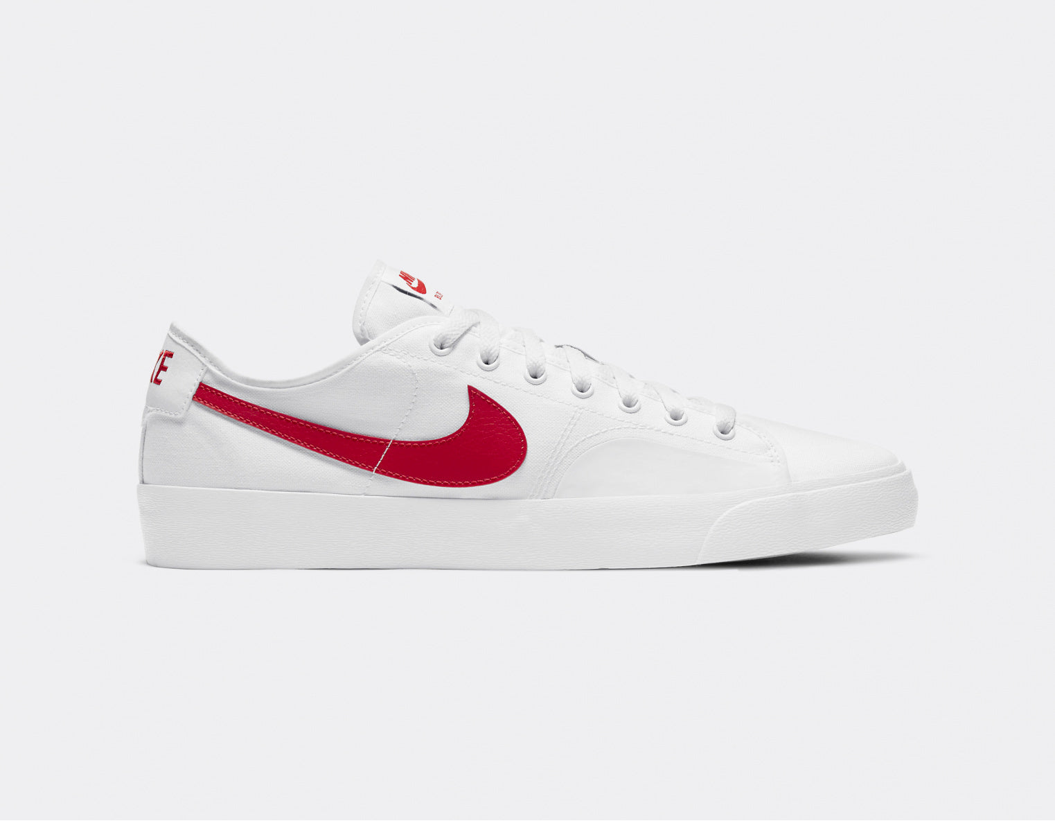 Nike SB Blazer Court Mens Shoes - White/White/Black/University Red