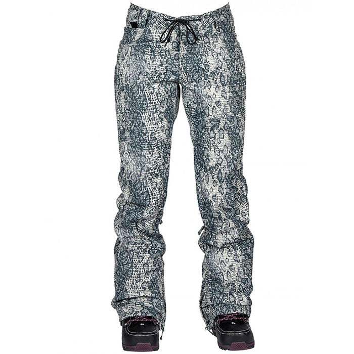 Nikita Cedar Snow Pants Womens - Snakeskin Black/White
